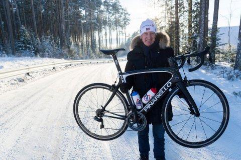 HER BLIR DET MÅLGANG: Birger Hungerholdt og Ringerike sykkelklubb er klare til å arrangere NM 2019.