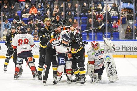 STORTAP: Det endte 4-9 mellom Panthers og Lillehammer torsdag kveld.