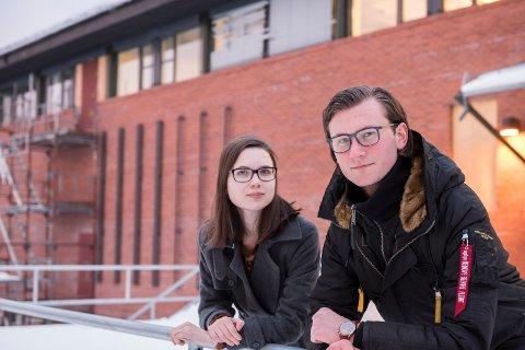 Herman Danielsen og Madelén Skare Olsen er studenter ved USNs jus-utdanning.