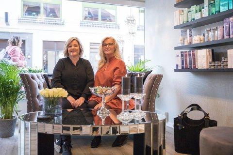 ETABLERT: Nyoppusset og godt etablert. Mona Lisa Hairfashion har fått ny drakt av eier Anne Fallås og Elin Gulbrandsen.