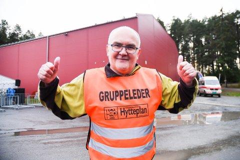 STORFORNØYD ARRANGØR: Jon Anders Kvisgaard under årets løp.