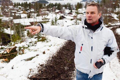 ETT SKRITT NÆRMERE: Med hogsten er Reidar Engebretsen ett skritt nærmere utbygging av Kleivlia.