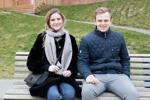 STUDENTER: Emilie Mærsk (25) er utvekslingsstudent fra CBS dette semesteret. Even Koi (20) og tre andre studenter fra USN blir med henne til København for å studere på CBS i et halvt år.