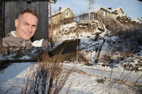 EVAKUERT: To hus i Westheimsgate er evakuert etter at det gikk ras tirsdag kveld. - Det er en eldgammel vannledning som har røket, sier Ole Aalde Nyhagen, som måtte flytte ut av sitt hjem.