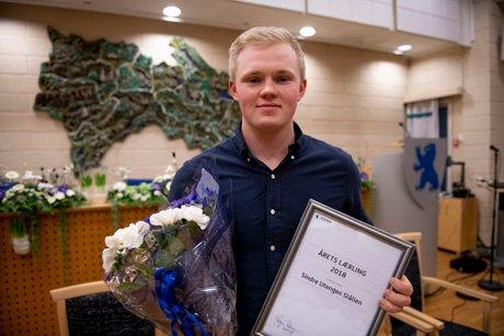 Lærling: Sindre Utengen Slålien mottok prisen Årets lærling i Buskerud.