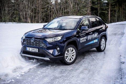NYKOMMER: Den nye 2019-modellen av Toyotas RAV4 Hybrid.