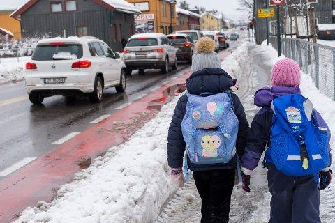 SKOLEVEI: Øystein Bråstad mener farlig skolevei er et mye større problem på Sokna enn i Hønefoss.