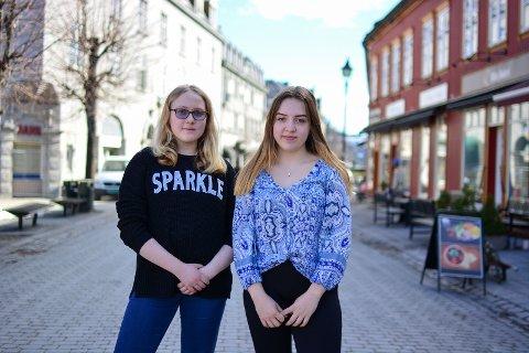 "FOKUS PÅ TALENT: Maria Bjerke (15) og Mia Kvam (15) synes det er bra at ""Generation 2.0"" fokuserer på talent fremfor kropp."