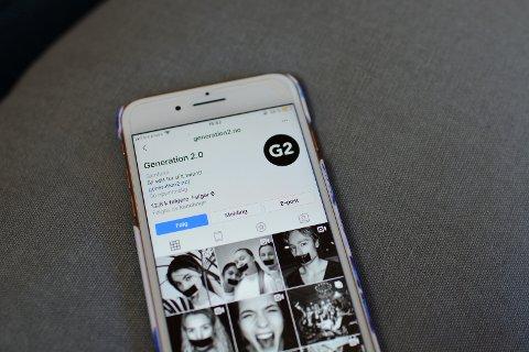 """PLATTFORMER: Man kan finne """"Generation 2.0"""" på Instagram, YouTube og hovedplattformen; nettsiden."""