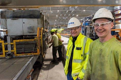 GOD STEMNING: Spennon Rail har vunnet to priser på kort tid, og det setter Lars Petter Lund og Per Skretteberg pris på.