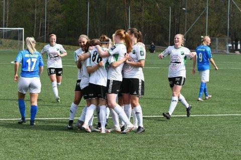 STORKAMP: Tanja Løfshus debuterte for HBK-damene med scoring. Nå venter toppserielaget Kolbotn i cupens 2. runde.