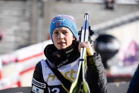 UTEN SKI: Silje Opseth er på plass i Østerrike før helgens verdenscup, men det er ikke skiene hennes.