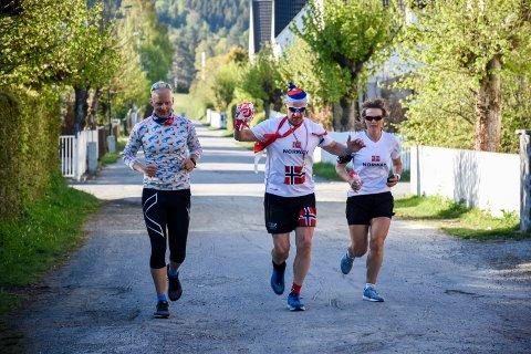 REDUSERT UTGAVE: I fjor kunne Stig Andy Kvalheim løpe til mål sammen med deltakerne i 17. mai-femmern. I år må han og de 30 deltakerne holde avstand.