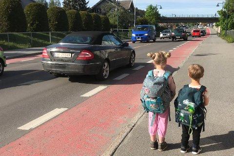 MANGELFULLT: - Også Statens vegvesen må sies å ha hatt et mangelfullt grunnlag da de skulle mene noe om det som kommunen tenker skal bli en fremtidig skolevei for elever fra nåværende Hønefoss skolekrets, sier Kristin Grov.