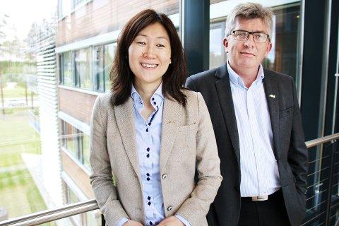 GODT RESULTAT: Finansdirektør Jane K. Gravbråten og daglig leder Paal Haakensen er godt fornøyd med 2018-resultatet.