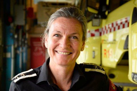 ADVARER MOT SKOGBRANN: Bodil Lafton er ny leder for forebyggende avdeling ved Ringerike brann- og redningstjeneste.