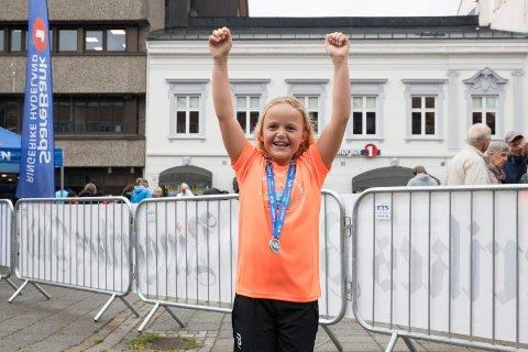 RINGERIKSMARATON 2019: Edwin Gunbjørnsen (9) - Jeg var en de først i mål, jublet han.