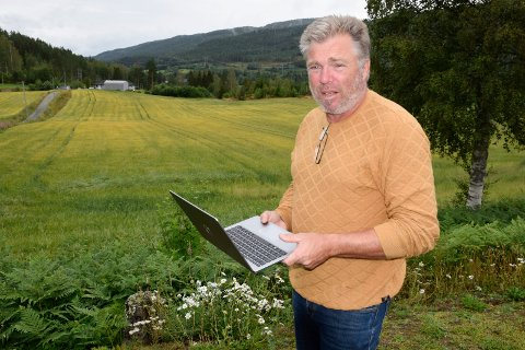 SAMFUNNSANSVAR: Hans Petter Grongstad skulle ønske at det ble tatt mer samfunnsansvar for utbygging av fibernett også til mer avsidesliggende deler av Ringerike.