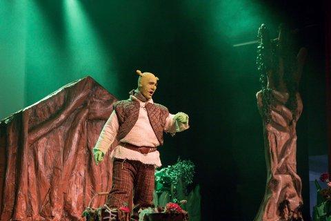 MUSIKALSK: Musikalen Shrek spilles på Byscenen i fire dager.