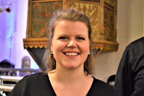 MÅ SYNGE I KOR: Karoline H. Spilling forteller at hun rett og slett må synge i kor. Det har hun gjort siden hun var liten jente.