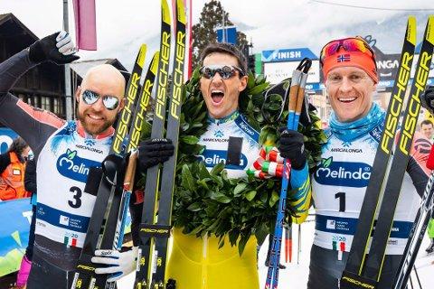 (Arkivfoto) PÅ PALLEN: Tord Asle Gjerdalen endte som nummer to sammenlagt i Visma Ski Classics.