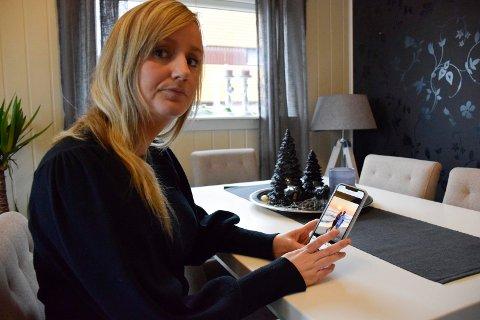 VAR FORELSKET: Christine Westby fra Hønefoss svarte gråtende ja da mannen fridde.