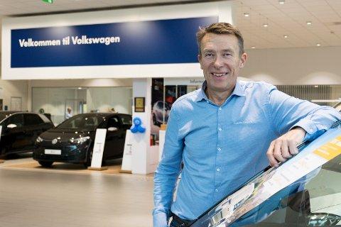ET SPESIELT ÅR: 2020 ble året da bruktbilsalget slo nybilsalget. Det har daglig leder Erik Trygve Heiberg på Hamax Auto aldri opplevd før.