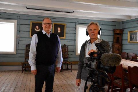 VIKTIG: - Det er viktigere enn noen gang å ta vare på historien, sier Runar Krokvik og Steinar Hybertsen. Nå blir det mange nye dokumentarfilmer med base i Ringerikshistorien.