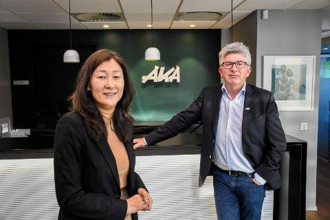 NYE STILLINGER: Jane K. Gravbråten tar over som administrerende direktør i AKA AS, mens Paal E. Haakensen går over i stillingen som investeringsdirektør.