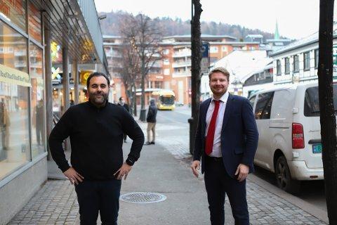 PROFILER: Masud Gharahkhani og Håkon Ohren fikk topplasseringer på Buskerud Arbeiderpartis stortingsliste.
