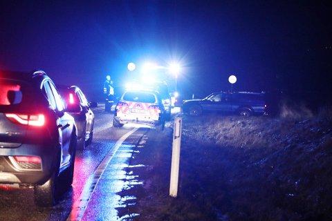 UTFOR: Politiet fikk uvanlige utfordringer da en patrulje rykket ut til en utforkjøring.