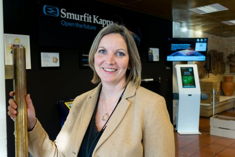 ØKONOMISJEF: Hege Marie Syversen gikk fra jobb i Leiv Vidar til Smurfit Kappa Norge på Hensmoen.