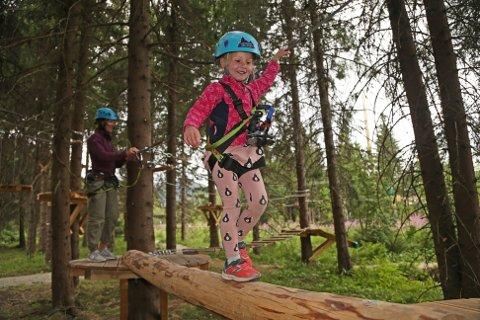 HEMSEDAL: En slik klatrepark kan bli en realitet i Modum i løpet av året. Foto: Høyt & Lavt Hemsedal