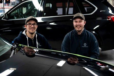 TOK SJANSEN: Andreas Garberg og Håvard Moen er i ferd med å skape sin egen arbeidsplass.