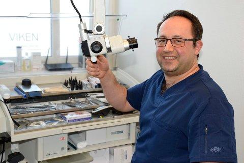 I GANG: Dr. Mohammad Sohrabi starter Viken Øre-Nese-Hals & Hørselsenter AS, og regner med å få travle dager på Hvervenmoen.