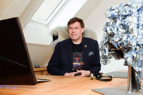 FORNØYD: Frederik Skarstein er fornøyd med fjoråret, til tross for minustallene.