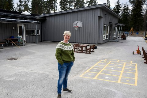GLEDER SEG: Nina Raastad Olimb ser fram til å ta imot barna igjen i Bergerbakken barnehage.