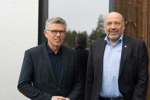 OMSTILLING: Konsernsjef Ole Sunnset og styreleder Per Roskifte i Ringerikskraft har flere forklaringer på hvorfor overskuddet ble redusert med 62,5 millioner fra 2018 til 2019.