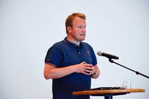 VIL BYGGE: Hans-Petter Aasen i Ringerike formannskap. Aasen og SP ønsker at kommunen selv skal bygge Haugsbygd Arena.
