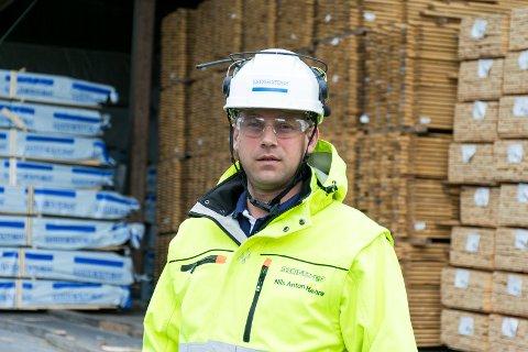 FORNØYD: – Vi har tilbakelagt et år med stor aktivitet, sier administrerende direktør Nils Anton Hæhre ved Moelven Soknabruket.
