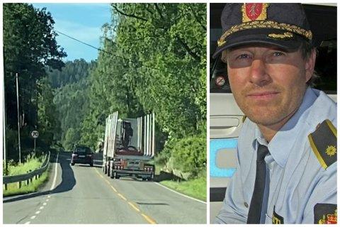 Å kjøre forbi andre biler kan skape farlige situasjoner. Her fra Svelvikveien tidligere i år. Politioverbetjent Morten Qvist i Drammen-politiet forteller at det er lett å bli irritert når man ligger bak biler som kjører for sakte.