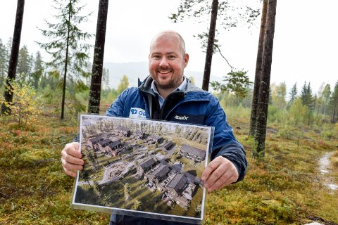NYTT BOLIGOMRÅDE: Trond Kristoffersen i Block Watne skal bygge 100 nye boliger på Hadeland. Snart settes spaden i jorda for de første.