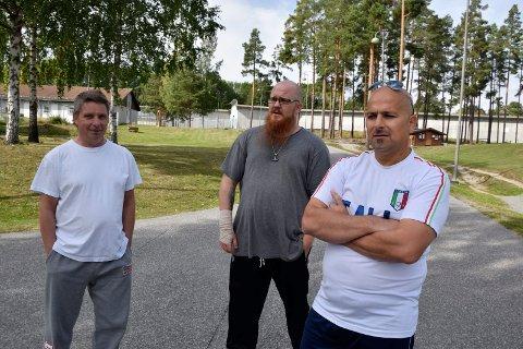 FOR EN GOD SAK: Arvid Wold, Torbjørn Torsteinson og Ismail Ammar i Ringerike fengsel har løpt for barnekreftforeningen.