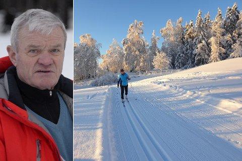 FINT DRIV: Tor Gullen lokke rmed drømmeforhold i lokale skiløyper. her er Kristin Brørby i de flotte løypene ved Olimb på Jevnaker.