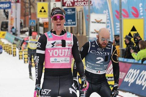 IMPONERTE: Emil Persson vant spurten mot Tord Asle Gjerdalen, som likevel er fornøyd etter det sju mil lange rennet.