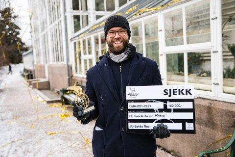 STAS: – Det er en fantastisk ære å få motta denne prisen, sier Benjamin Ree (31).