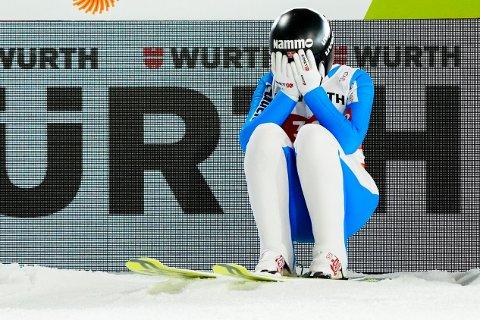 Silje Opseth under hopp stor bakke for kvinner under VM på ski i Oberstdorf.