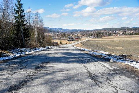 NÅDDE IKKE OPP: Lokale fylkesveier - som denne ved Heggen - nådde ikke opp i kampen om de ekstra vei-millionene fra regjeringen.