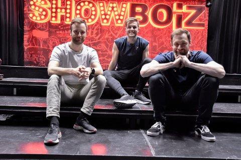 SHOW: Mikkel Gythfeldt, Alexander Langset og Bjørnar Reime er klare for å levere.