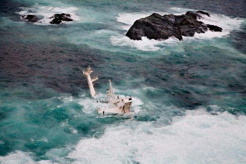 SANK I 2007: Det kypriotiske lasteskipet sank utenfor kysten av Norge i 2007. Nå blir litt av skipet til ny skulptur på Kistefos.